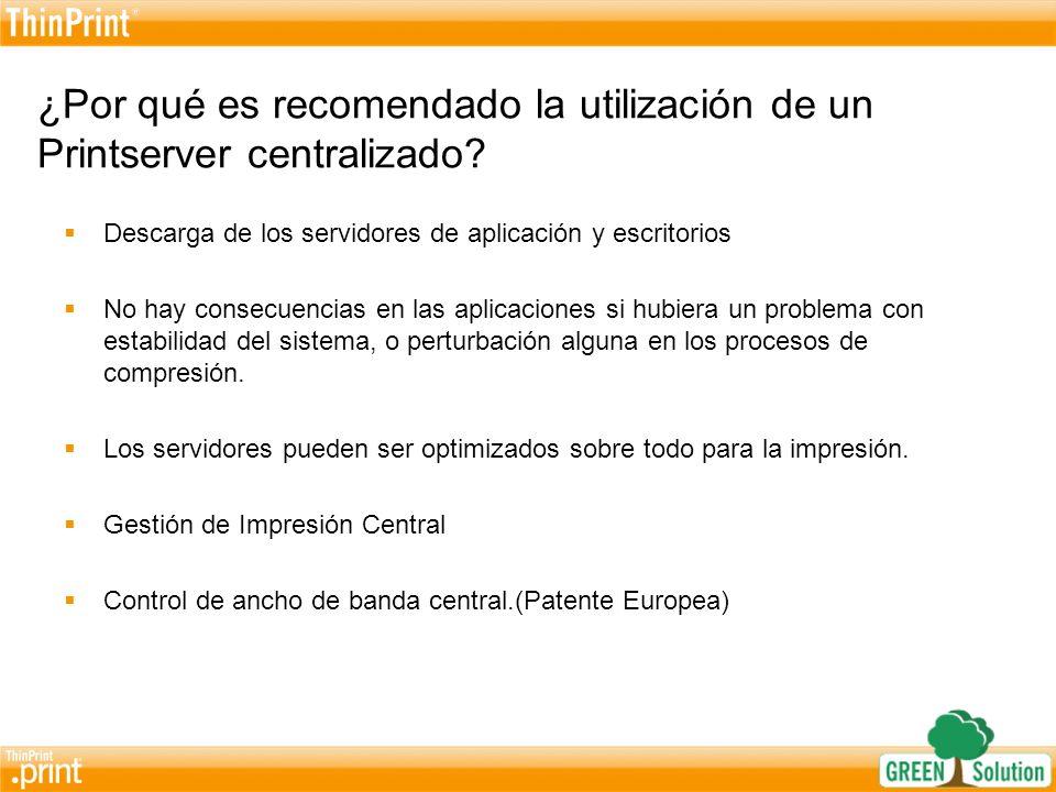 ¿Por qué es recomendado la utilización de un Printserver centralizado
