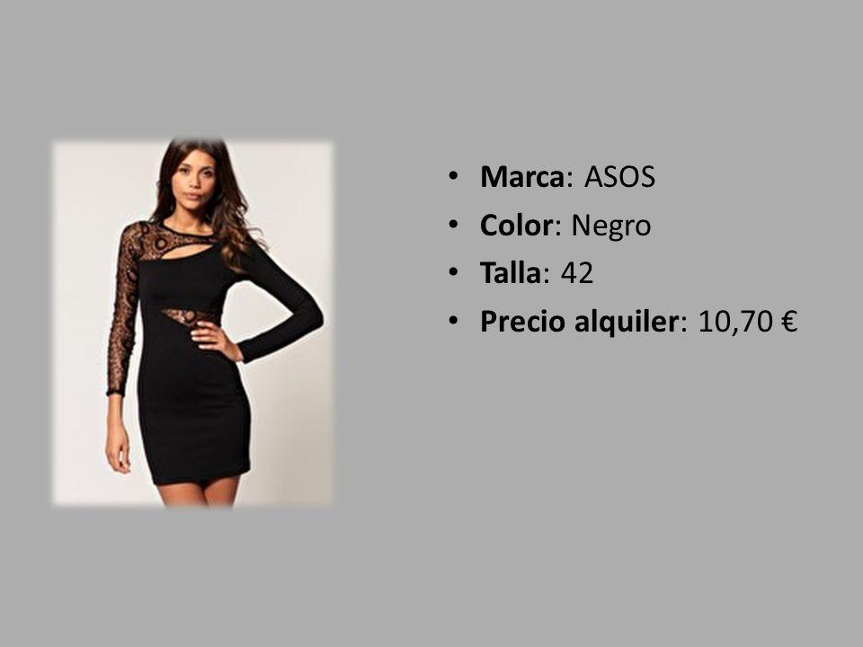 Marca: ASOS Color: Negro Talla: 42 Precio alquiler: 10,70 €