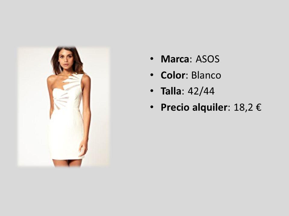 Marca: ASOS Color: Blanco Talla: 42/44 Precio alquiler: 18,2 €