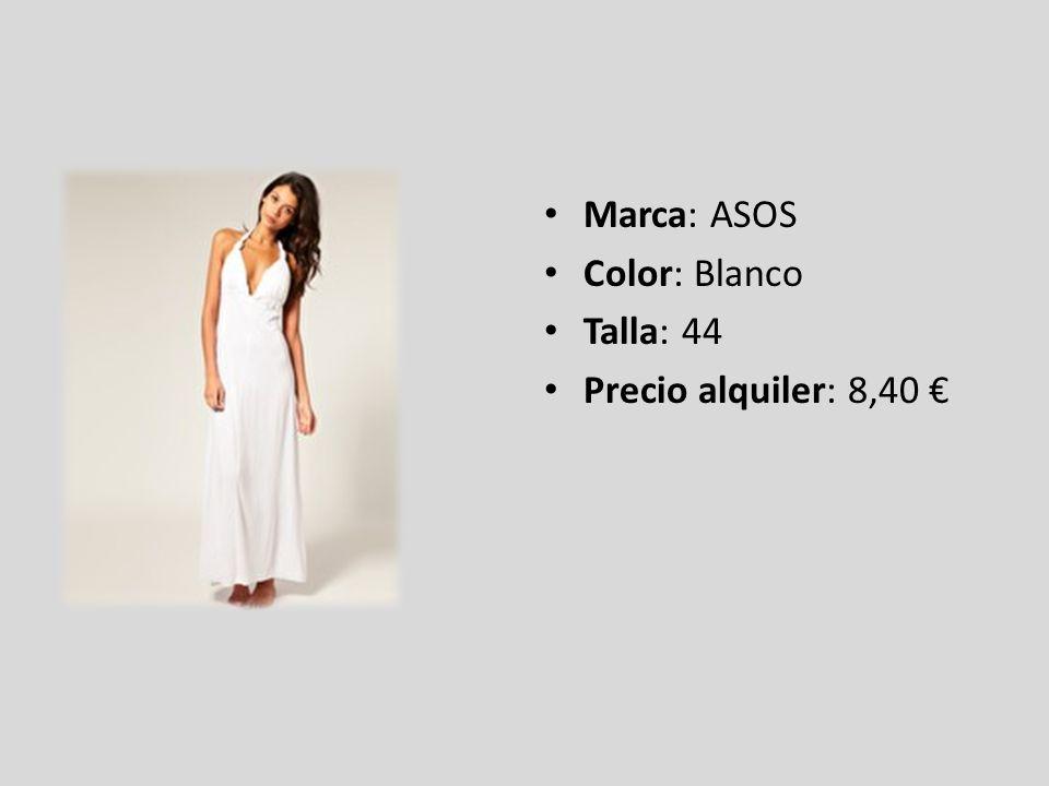Marca: ASOS Color: Blanco Talla: 44 Precio alquiler: 8,40 €
