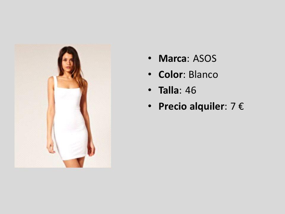 Marca: ASOS Color: Blanco Talla: 46 Precio alquiler: 7 €