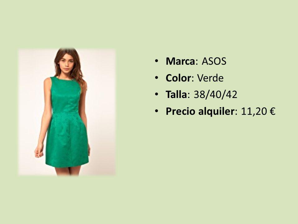 Marca: ASOS Color: Verde Talla: 38/40/42 Precio alquiler: 11,20 €