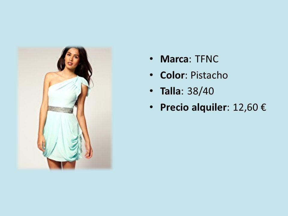Marca: TFNC Color: Pistacho Talla: 38/40 Precio alquiler: 12,60 €