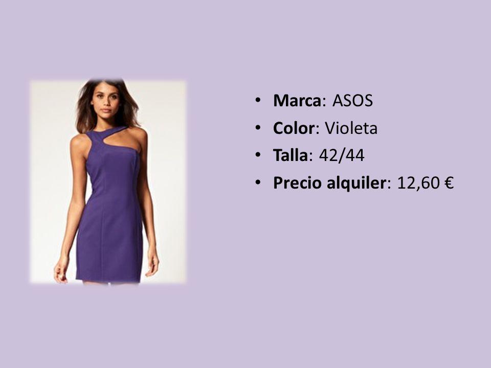 Marca: ASOS Color: Violeta Talla: 42/44 Precio alquiler: 12,60 €