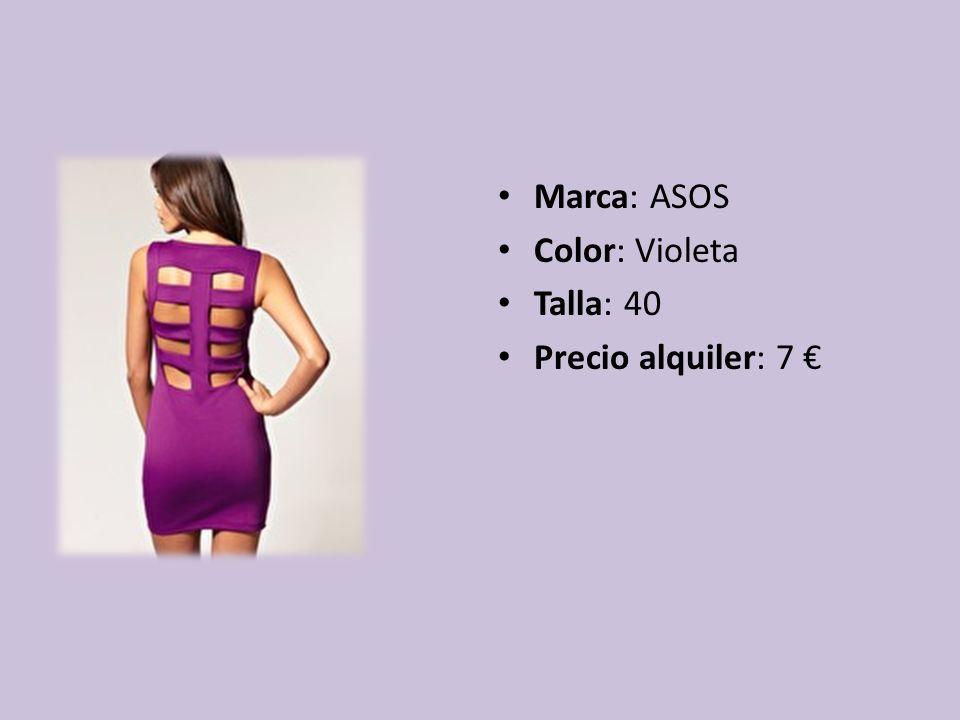 Marca: ASOS Color: Violeta Talla: 40 Precio alquiler: 7 €