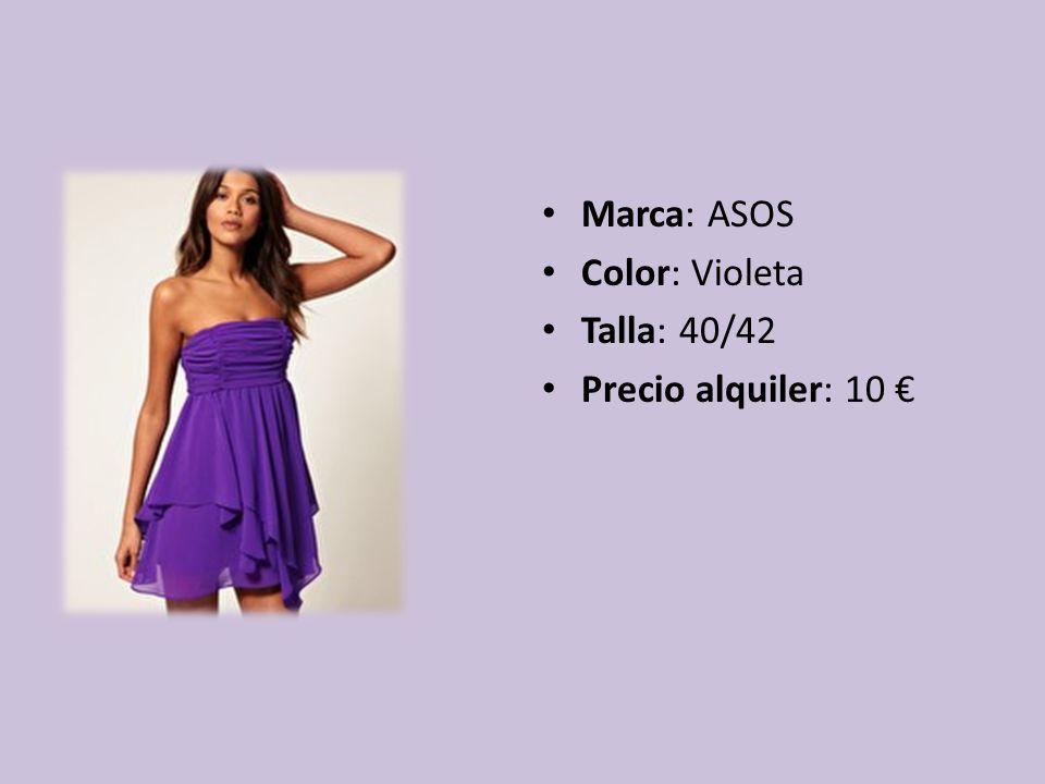 Marca: ASOS Color: Violeta Talla: 40/42 Precio alquiler: 10 €