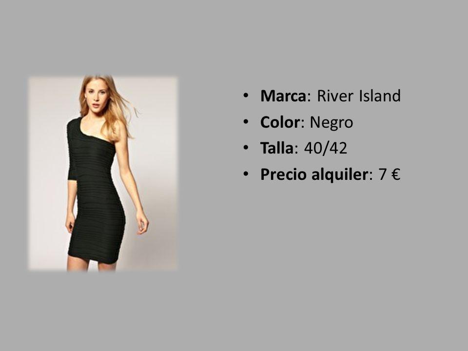 Marca: River Island Color: Negro Talla: 40/42 Precio alquiler: 7 €