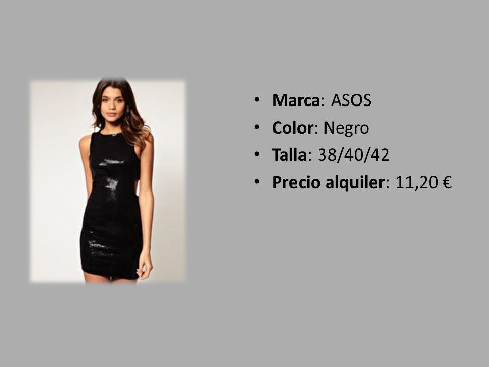 Marca: ASOS Color: Negro Talla: 38/40/42 Precio alquiler: 11,20 €
