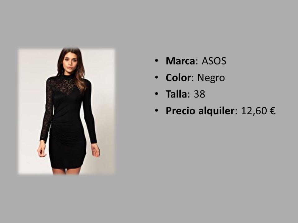 Marca: ASOS Color: Negro Talla: 38 Precio alquiler: 12,60 €