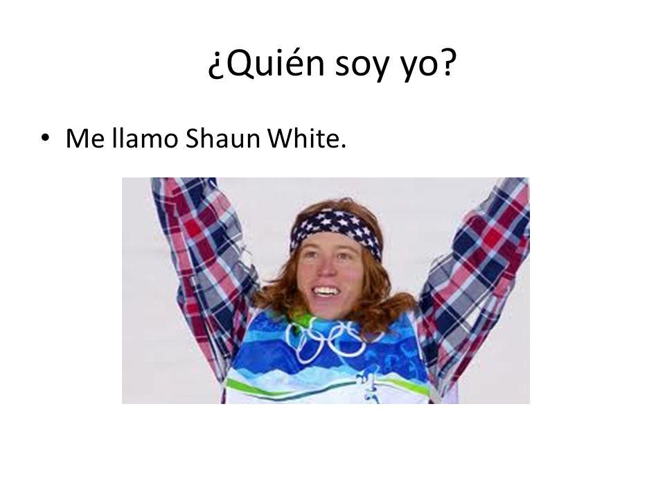 ¿Quién soy yo Me llamo Shaun White.