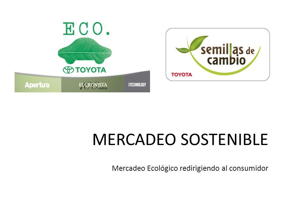 MERCADEO SOSTENIBLE Mercadeo Ecológico redirigiendo al consumidor