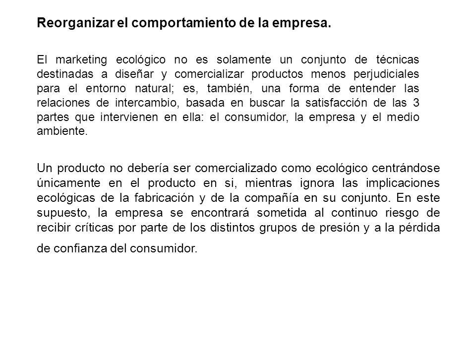 Reorganizar el comportamiento de la empresa.