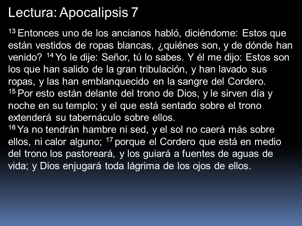 Lectura: Apocalipsis 7
