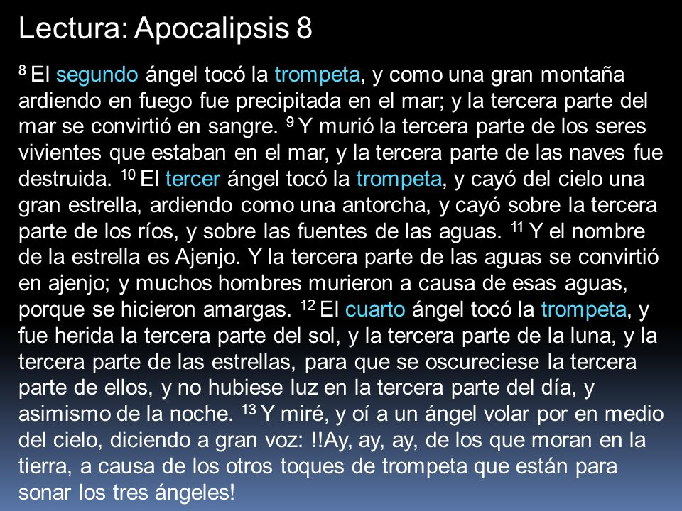 Lectura: Apocalipsis 8