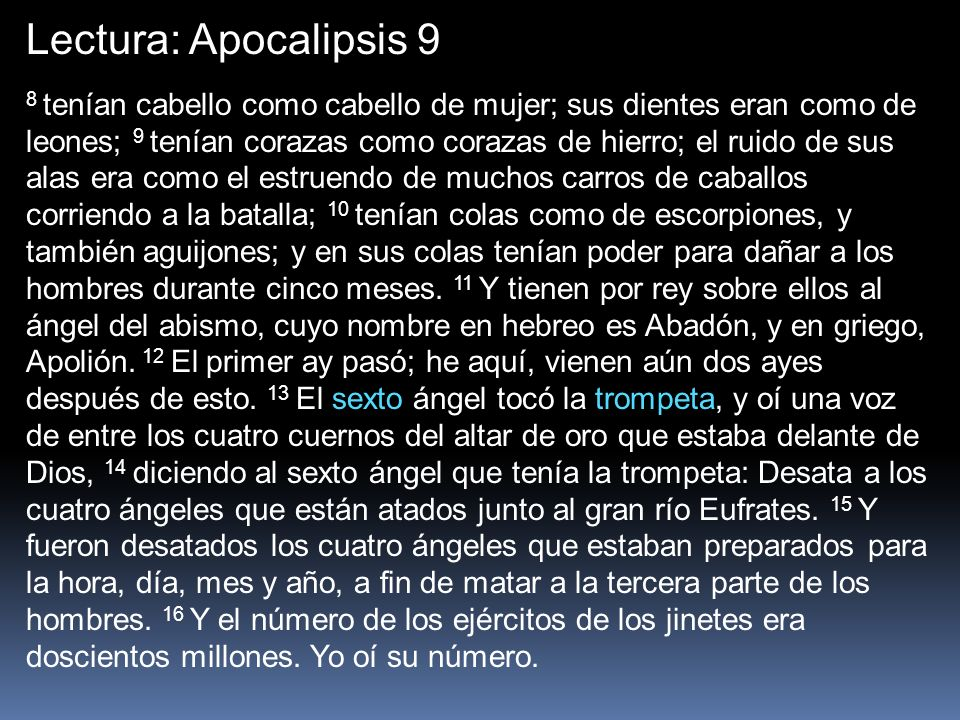 Lectura: Apocalipsis 9