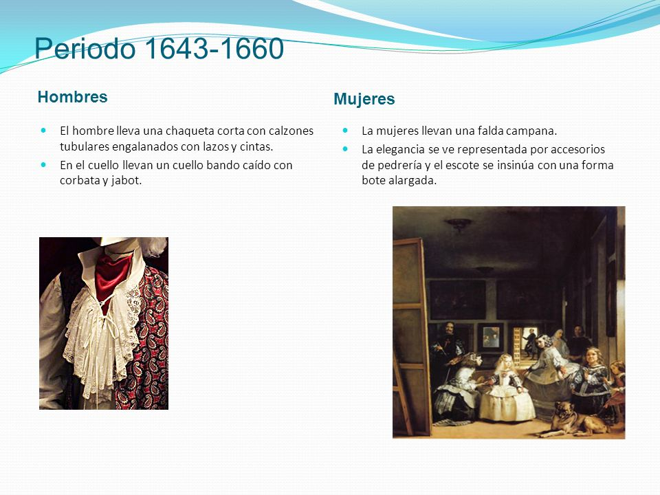 Periodo 1643-1660 Hombres Mujeres