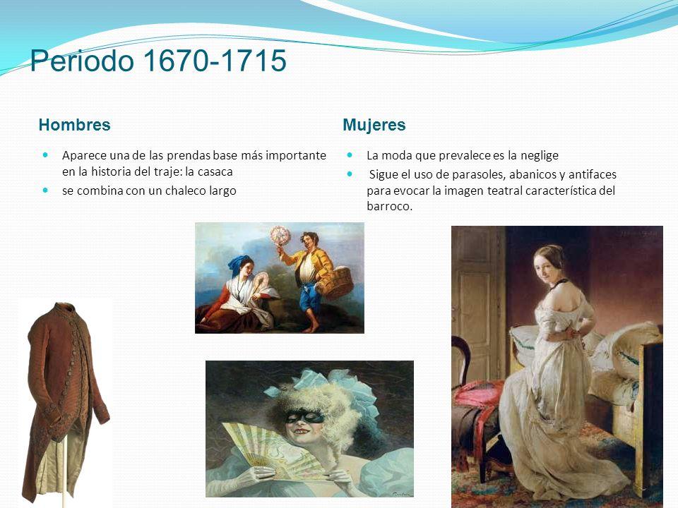 Periodo 1670-1715 Hombres Mujeres