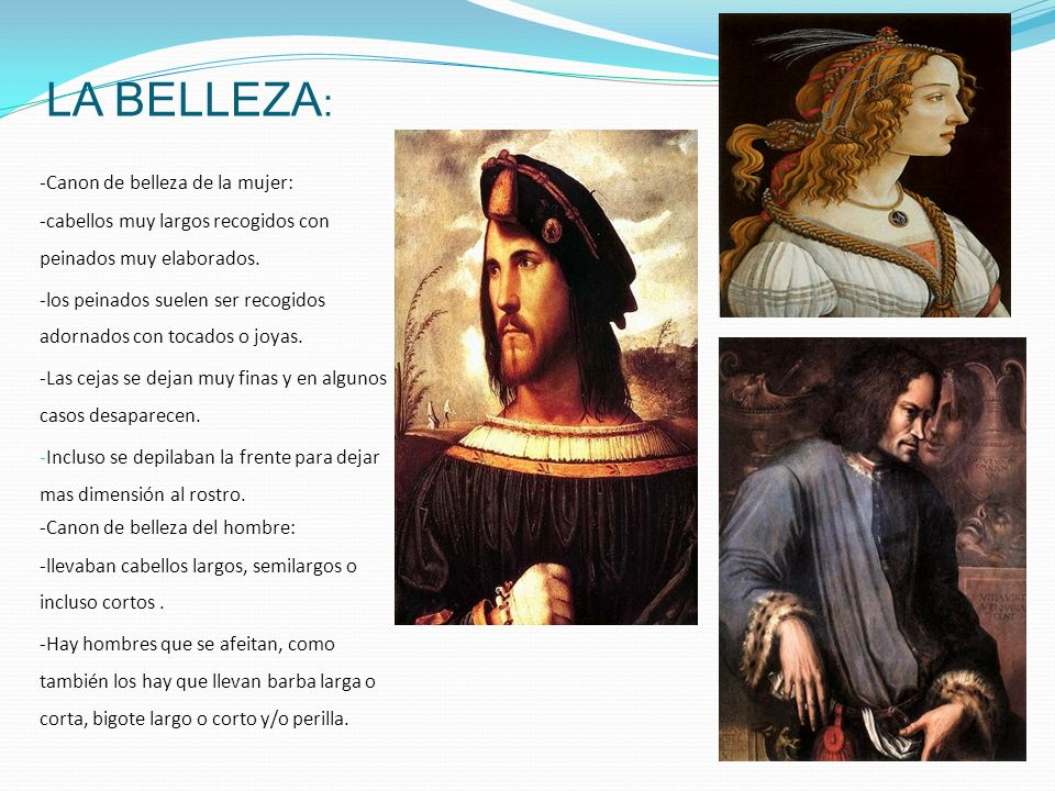 LA BELLEZA: -Canon de belleza de la mujer: