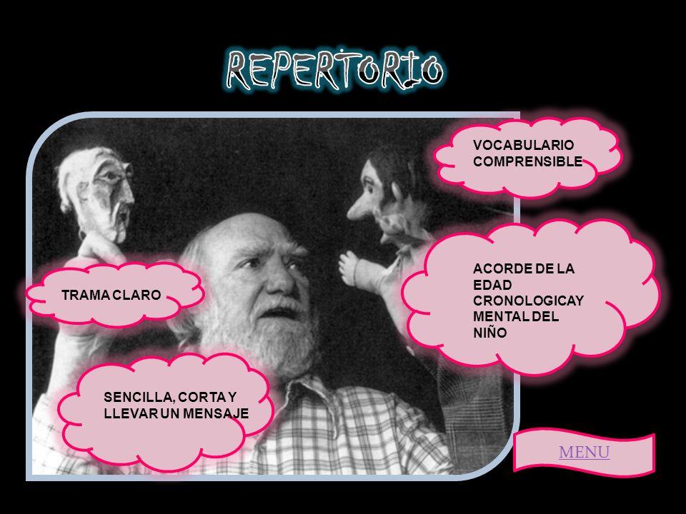 REPERTORIO MENU VOCABULARIO COMPRENSIBLE