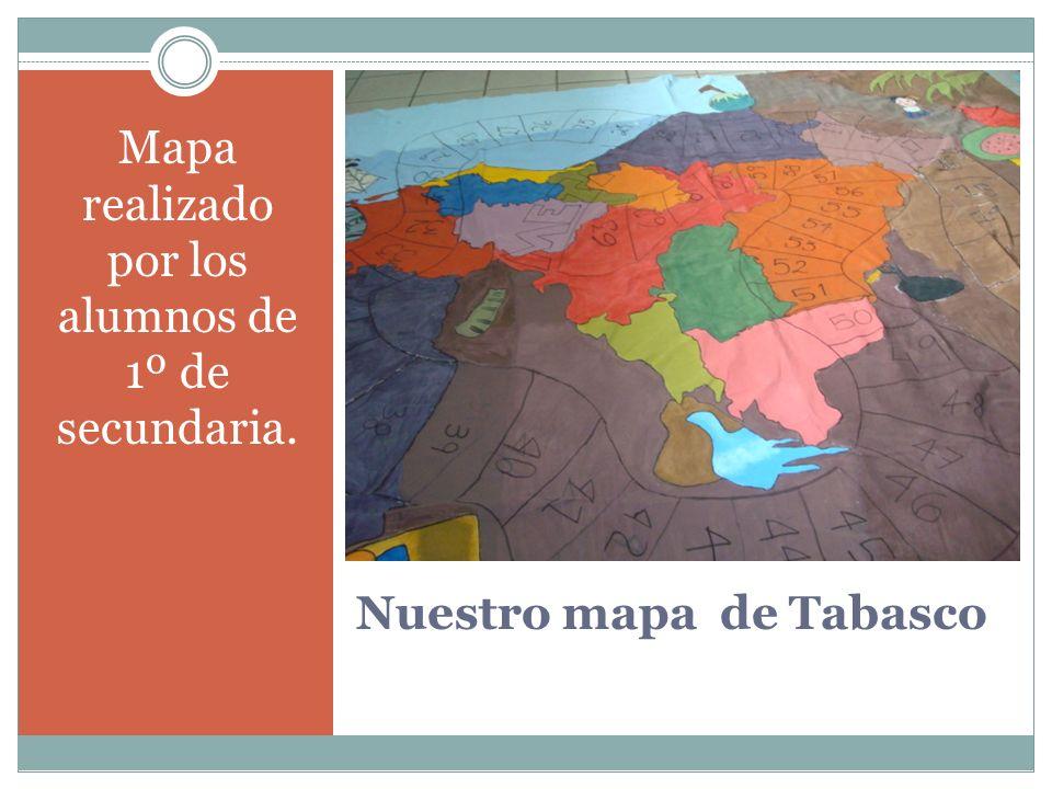 Nuestro mapa de Tabasco