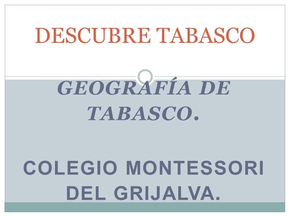 GEOGRAFÍA DE TABASCO. COLEGIO MONTESSORI DEL GRIJALVA.