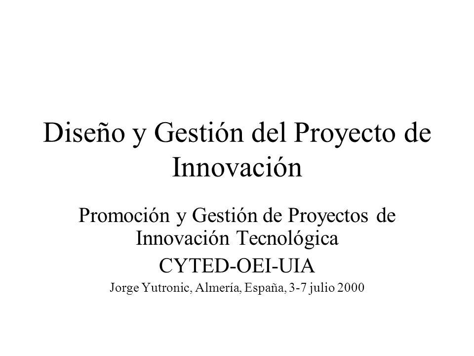 Diseño y Gestión del Proyecto de Innovación