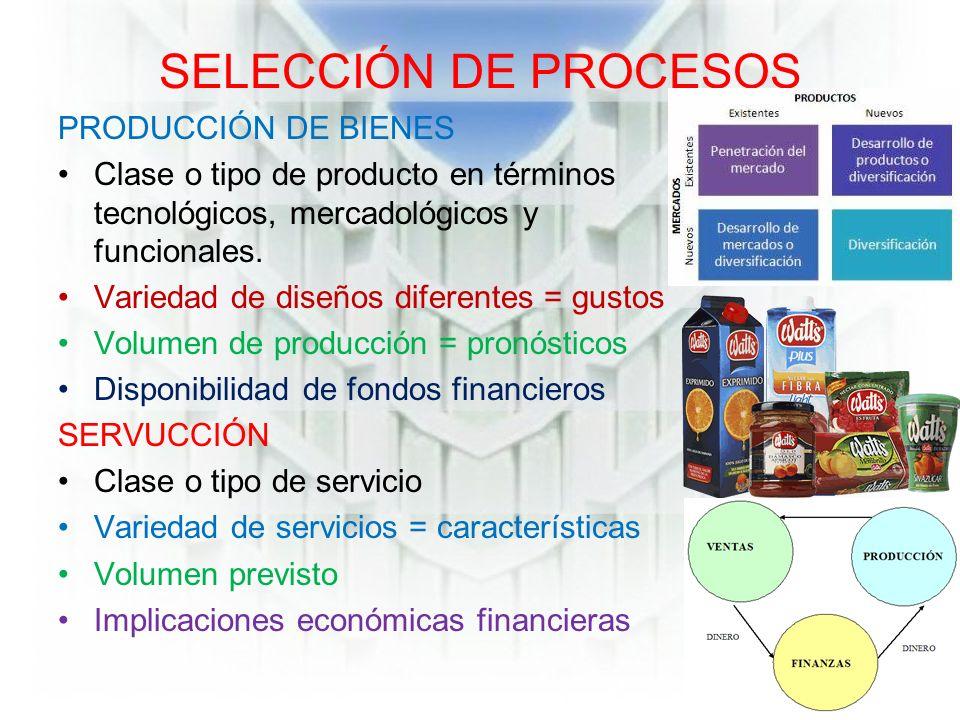 Selecci n y dise o del proceso manufactura y servicios Proceso de produccion en un restaurante