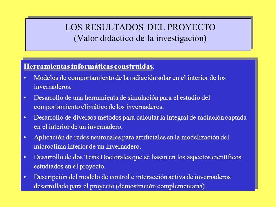 LOS RESULTADOS DEL PROYECTO (Valor didáctico de la investigación)