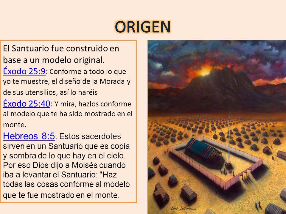 ORIGEN El Santuario fue construido en base a un modelo original.