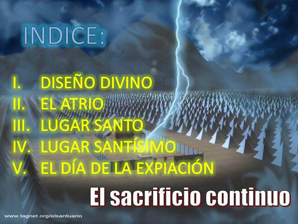 INDICE: DISEÑO DIVINO EL ATRIO LUGAR SANTO LUGAR SANTÍSIMO