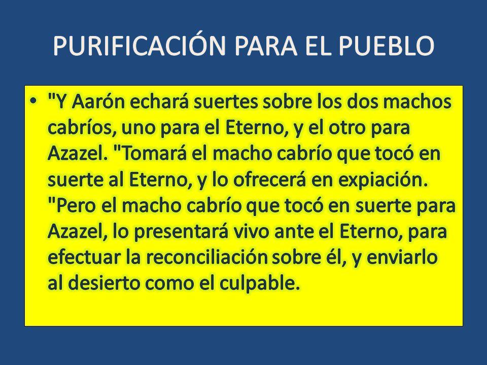 PURIFICACIÓN PARA EL PUEBLO
