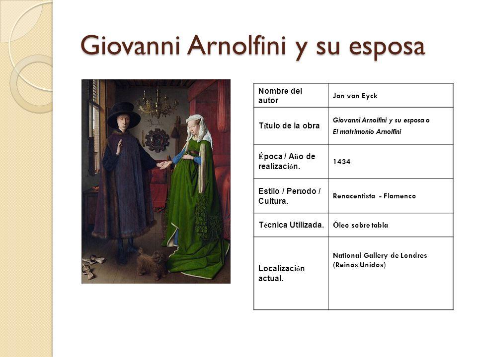 Giovanni Arnolfini y su esposa