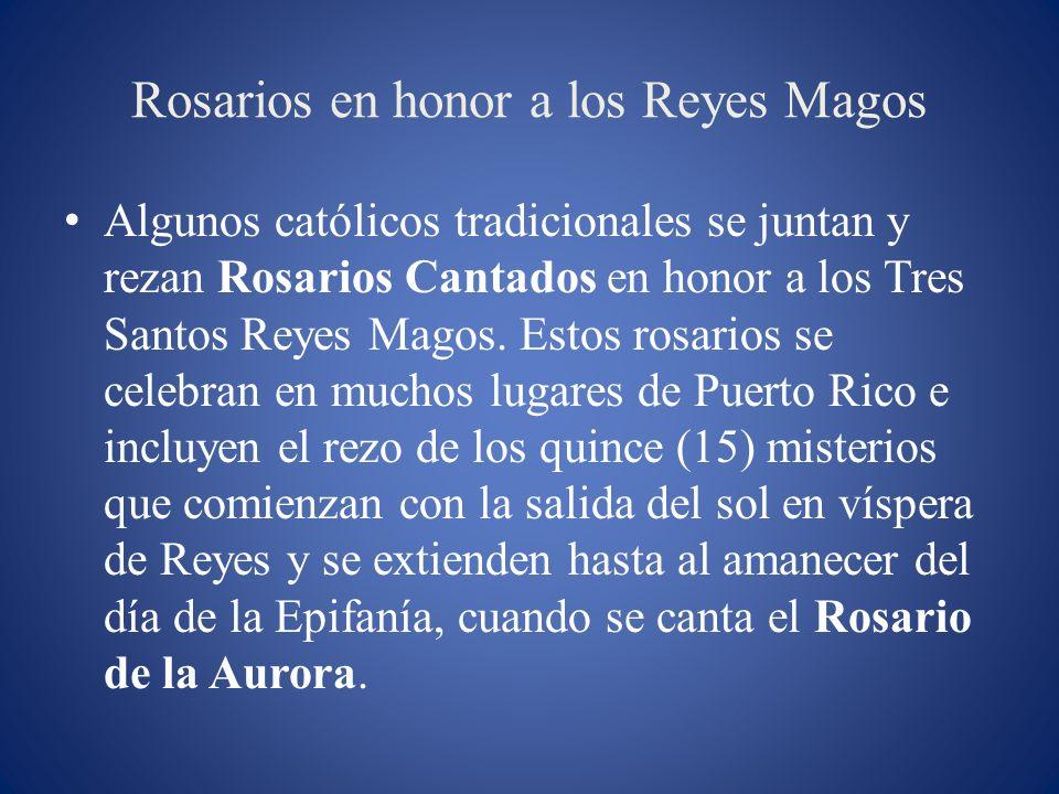 Rosarios en honor a los Reyes Magos