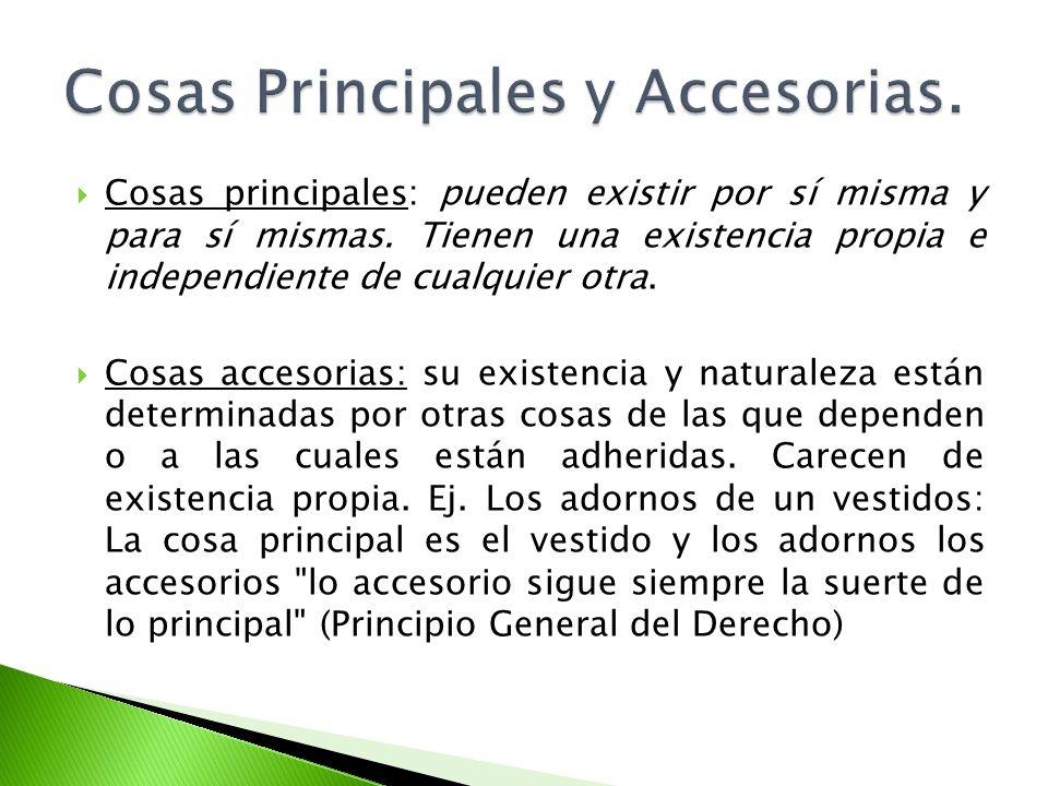 Cosas Principales y Accesorias.