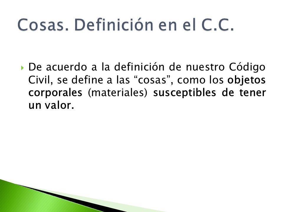 Cosas. Definición en el C.C.