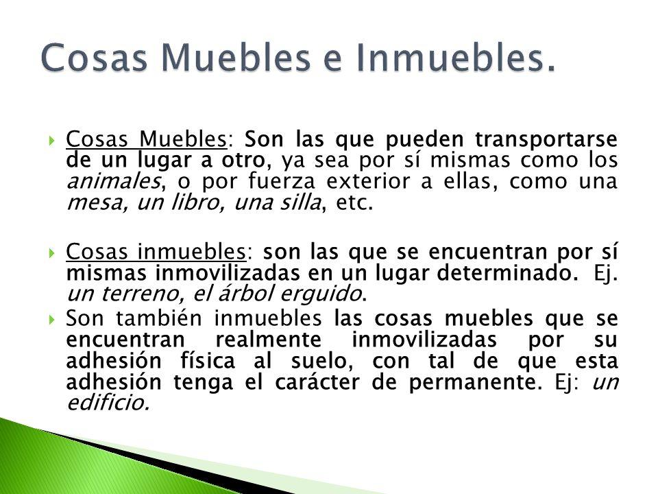 Cosas Muebles e Inmuebles.