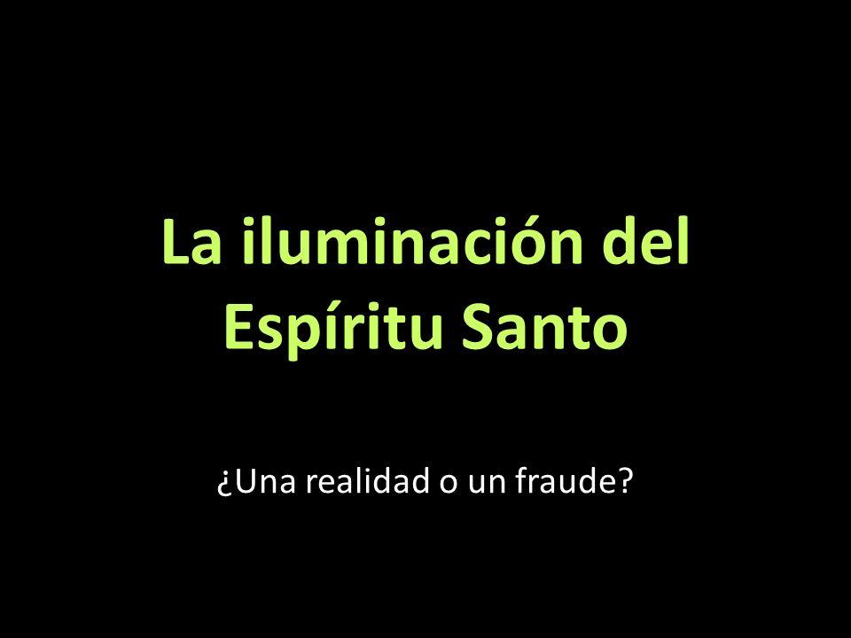 La iluminación del Espíritu Santo