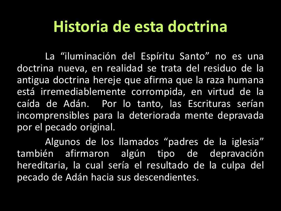 Historia de esta doctrina