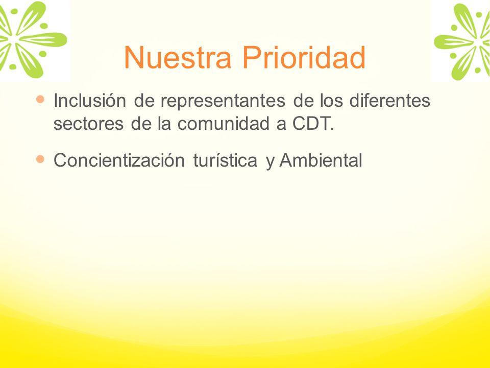Nuestra Prioridad Inclusión de representantes de los diferentes sectores de la comunidad a CDT.