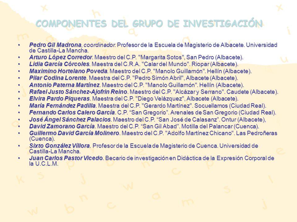 COMPONENTES DEL GRUPO DE INVESTIGACIÓN