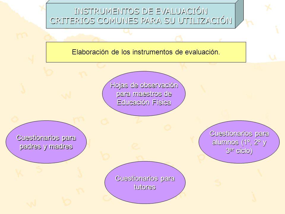 INSTRUMENTOS DE EVALUACIÓN CRITERIOS COMUNES PARA SU UTILIZACIÓN