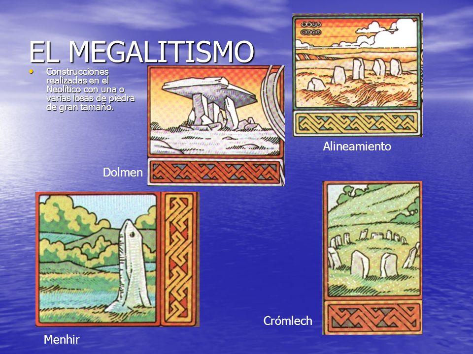 EL MEGALITISMO Alineamiento Dolmen Crómlech Menhir