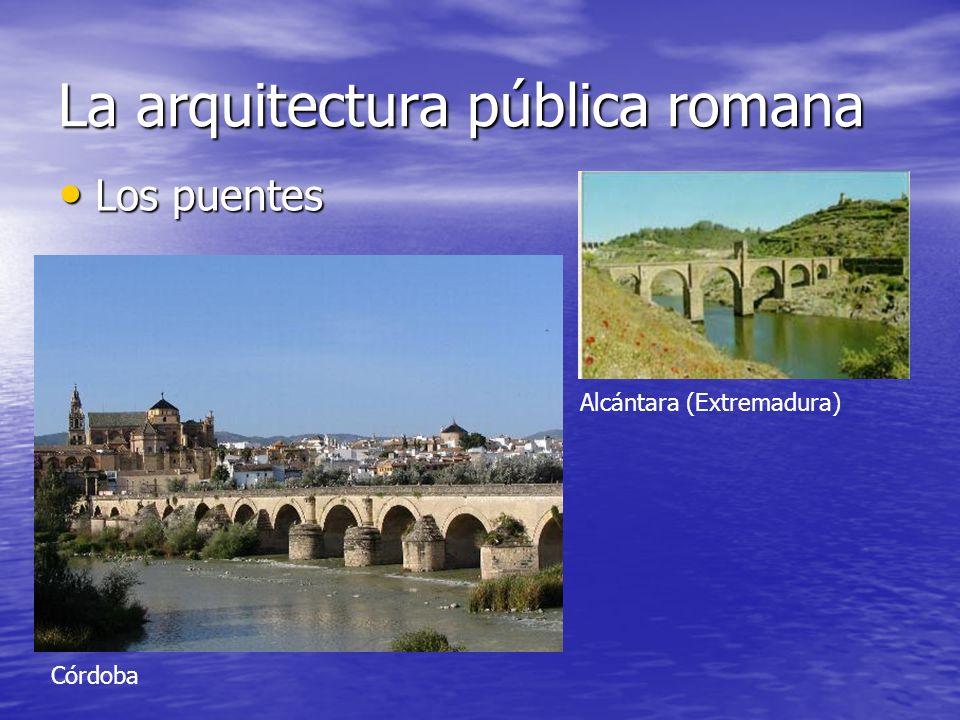 La arquitectura pública romana