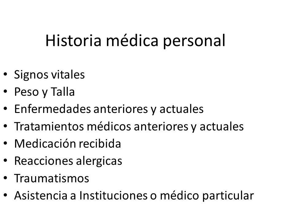 Historia médica personal