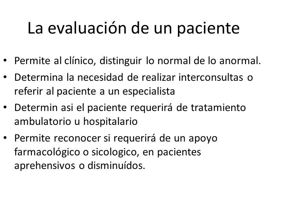 La evaluación de un paciente