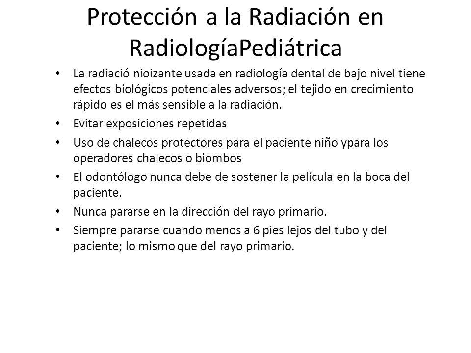 Protección a la Radiación en RadiologíaPediátrica