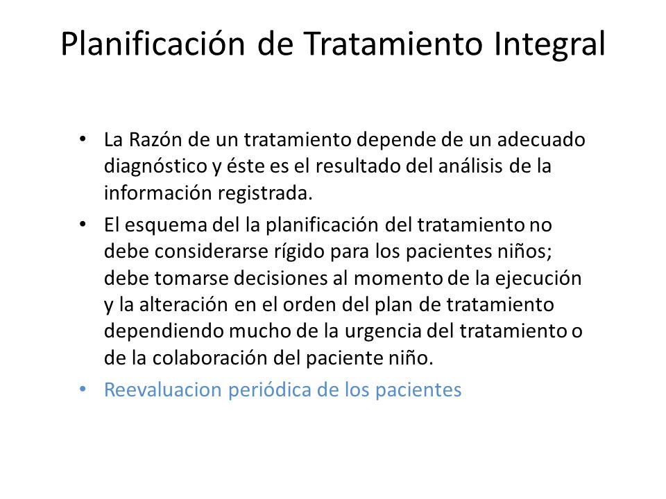 Planificación de Tratamiento Integral
