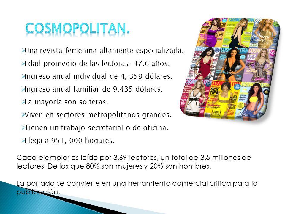 Cosmopolitan. Una revista femenina altamente especializada.