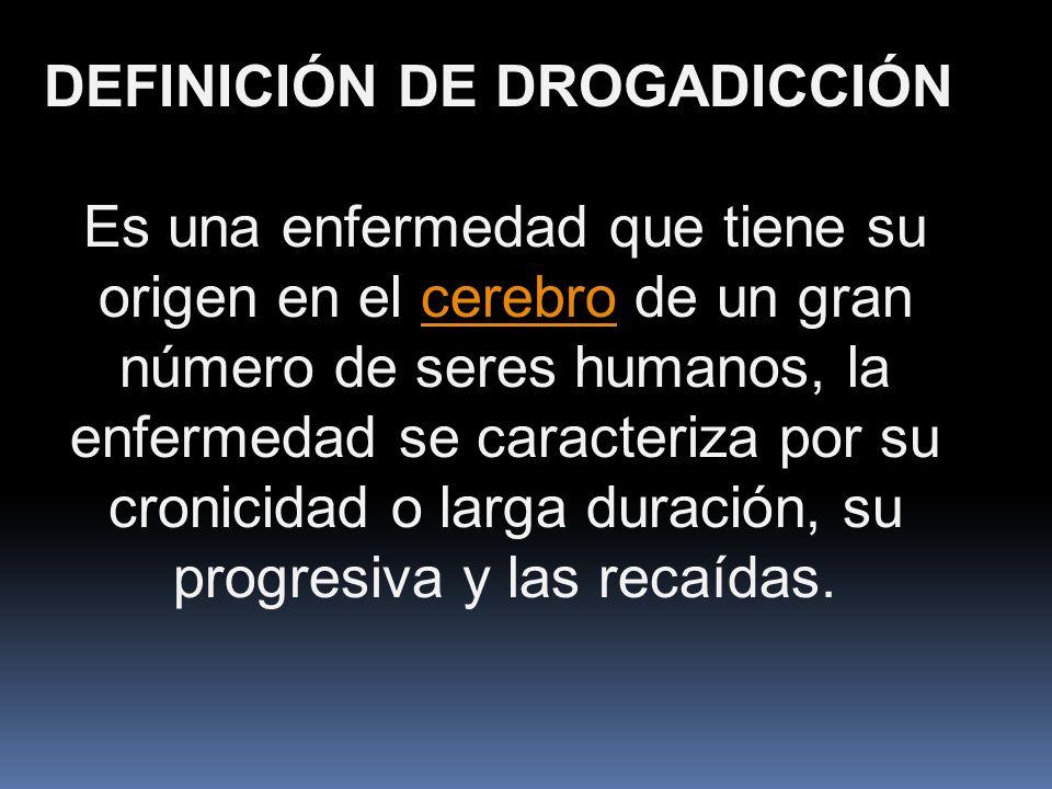 DEFINICIÓN DE DROGADICCIÓN