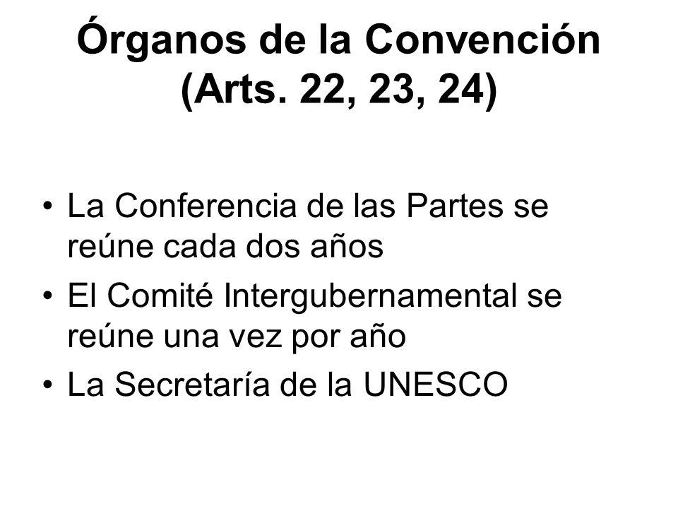 Órganos de la Convención (Arts. 22, 23, 24)